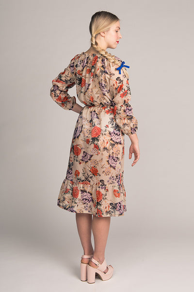 Marie Gathered Midi Dress & Blouse (last copy in print)