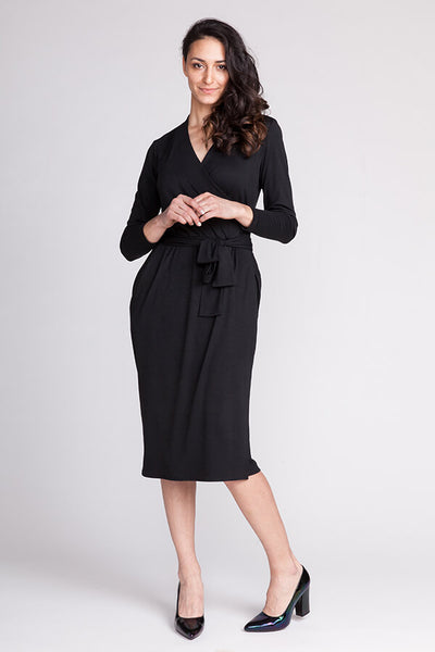 Olivia jersey wrap dress (last copy in print)