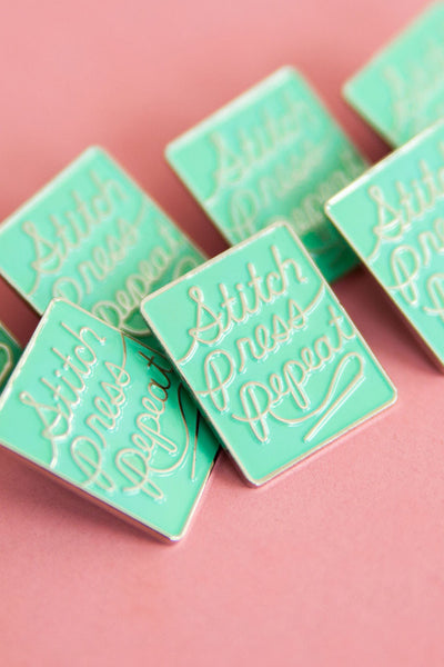 Stitch Press Repeat Pin