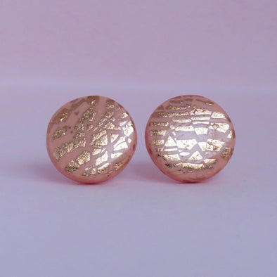 Peach and Rose Gold Studs