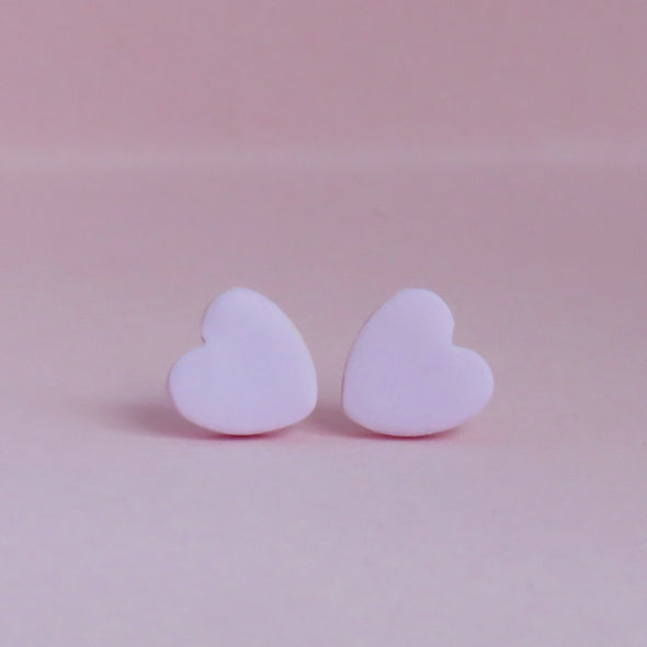 Classic Baby Pink Small Heart Stud