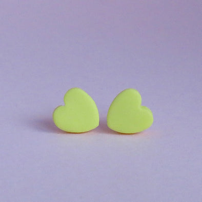 Classic Sunshine Yellow Small Heart Stud