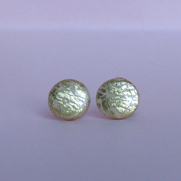 Champagne & Gold Foil Small Studs