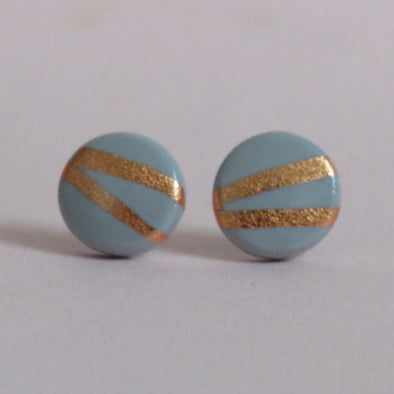 Grey and Rose Gold Studs