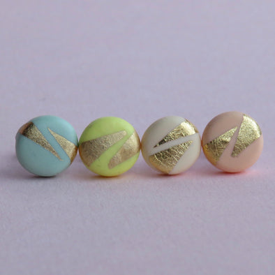 Cute gold and pastel studs