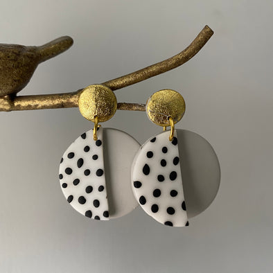 Double Spotty Dangles (3 colours available)