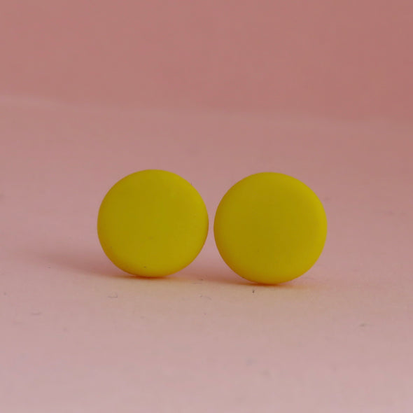 Classic Canary Yellow Small Studs