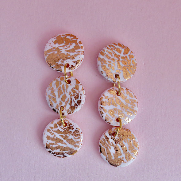 Rose Gold and Blush Dangles