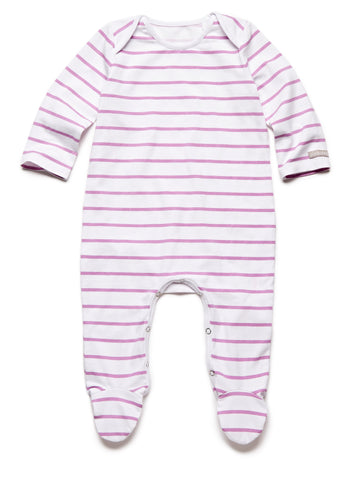 pure striped purple fullbody onesie