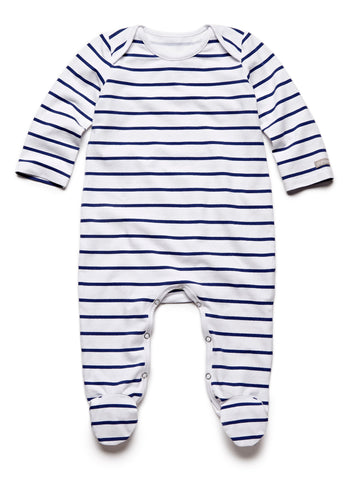 pure striped navy fullbody onesie