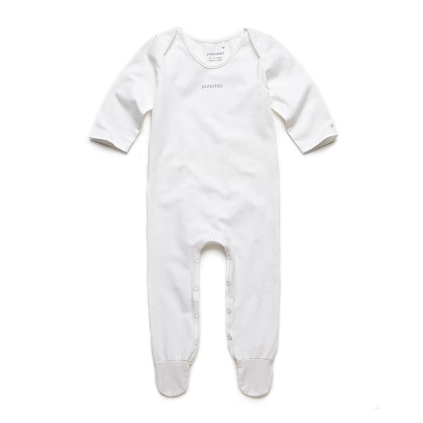 purechild long sleeve bodysuit, organic baby clothing