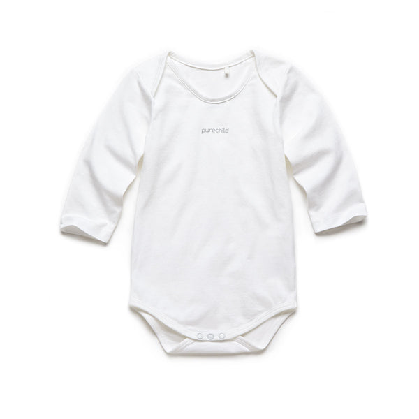 purechild long sleeve one-piece, organic baby clothing