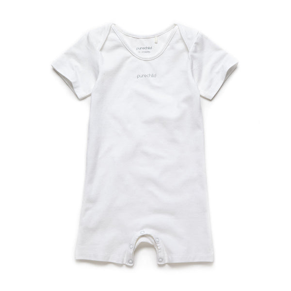 purechild short sleeve bodysuit, organic baby clothing