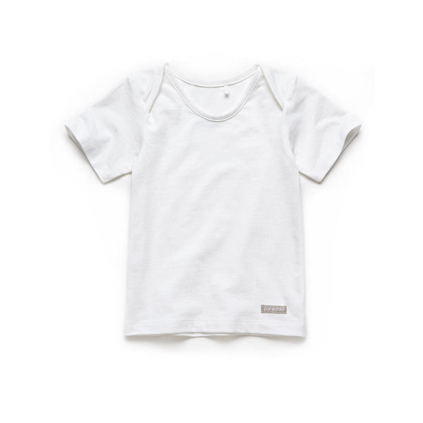 purechild white t-shirt, organic baby clothing