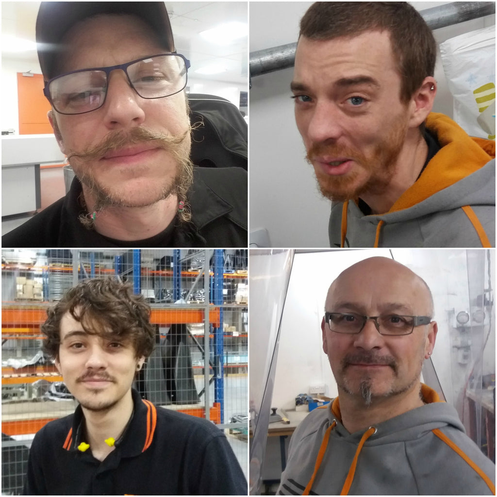 Here come the boys – Movember Is GO at Ginetta HQ