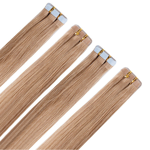 TAPE IN HAIR EXTENSIONS 100% REMY Hair Straight  #16 Dark Blonde