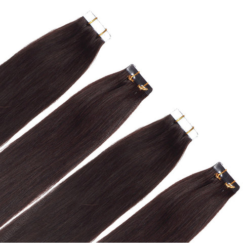 TAPE IN HAIR EXTENSIONS 100% REMY Hair Straight  #2 Brown