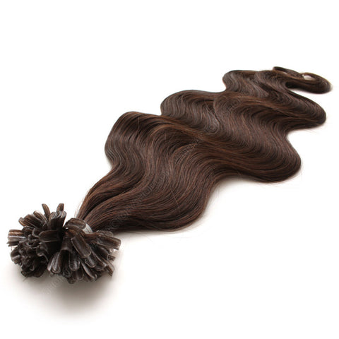 FUSION HAIR EXTENSIONS 100% REMY Hair Body Wave #2 Brown