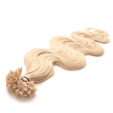 FUSION HAIR EXTENSIONS 100% REMY Hair Body Wave #613 Platinum Blonde