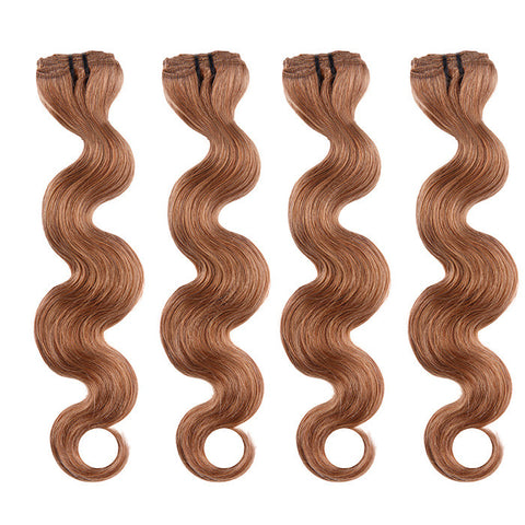 BRAZILIAN HAIR WEAVE 100% REMY Hair Body Wave #12 Light Chestnut Brown