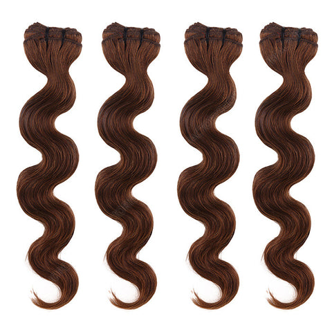 BRAZILIAN HAIR WEAVE 100% REMY Hair Body Wave #4 Chocolate
