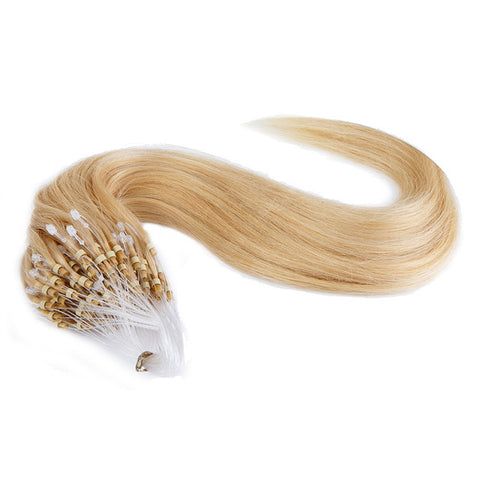 MICRO LOOP HAIR EXTENSIONS 100% REMY Hair Straight #24 Blonde