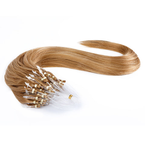 MICRO LOOP HAIR EXTENSIONS 100% REMY Hair Straight #27 Honey Blonde
