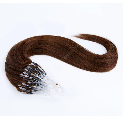 MICRO LOOP HAIR EXTENSIONS 100% REMY Hair Straight #2 Brown