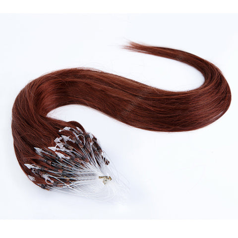 MICRO LOOP HAIR EXTENSIONS 100% REMY Hair Straight #4 Chocolate