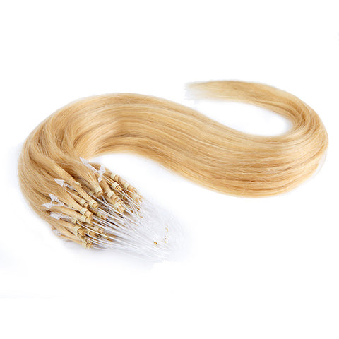 MICRO LOOP HAIR EXTENSIONS 100% REMY Hair Straight #613 Platinum Blonde