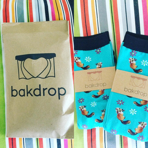 Bakdrop Sock Packaging
