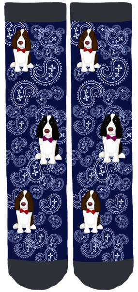 English Springer Rescue America Crew Socks
