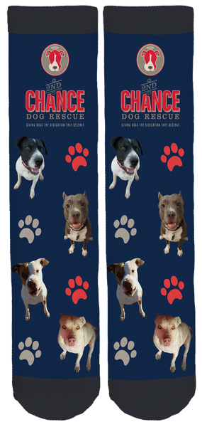 "2nd ""Chance"" Dog Rescue Crew Socks"