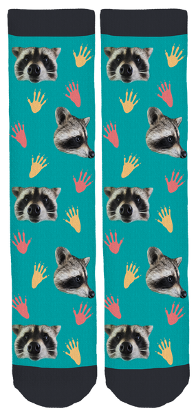 Izzie's Pond Raccoon Crew Socks