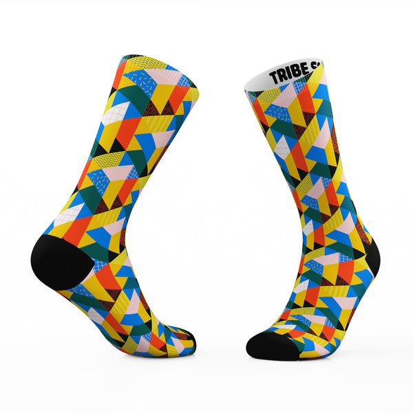 Geometric Kaleidoscope Socks