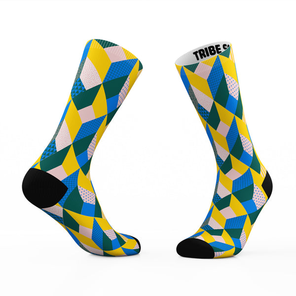 Geometric Invisible Box Socks