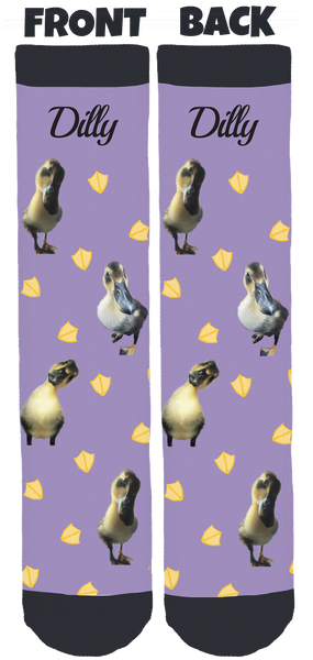 Flip Side Sanctuary's Dilly the Duck Crew Socks