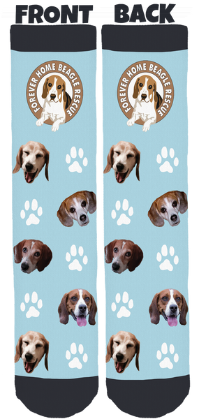 Forever Home Beagle Rescue Crew Socks