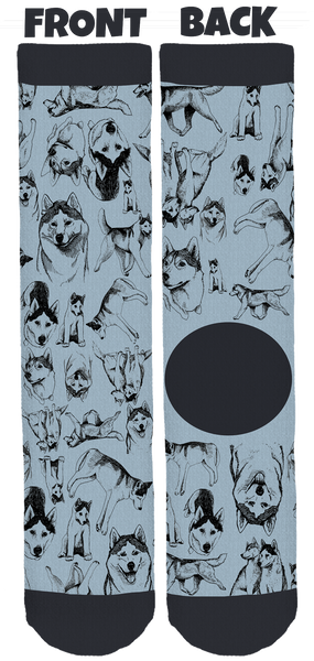 Luna & Ghost Crew Socks