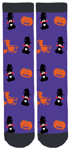 Barks of Love Animal Rescue Halloween Crew Socks