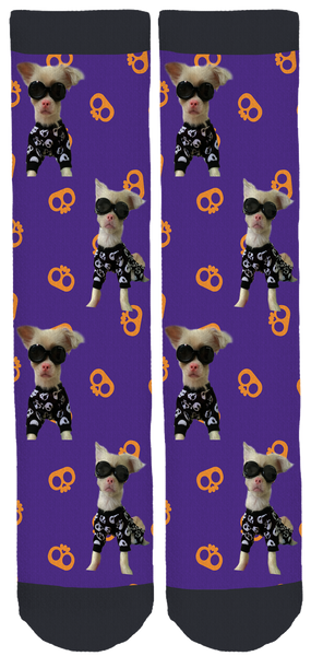 Lucky Second Chance at Life Skull Socks