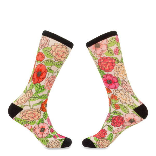 Camellias Flower Socks