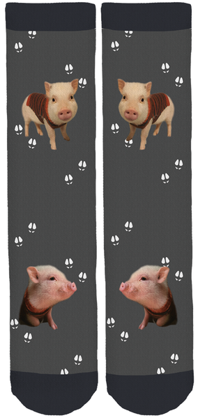 Limited Edition Pumpernickel The Mini-Pig Bamboo Crew Socks!