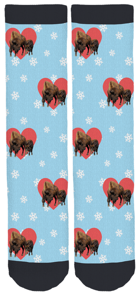 Lighthouse Farm Sanctuary Bison Socks
