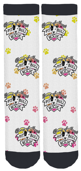 Change of Heart Pit Bull Rescue Crew Socks