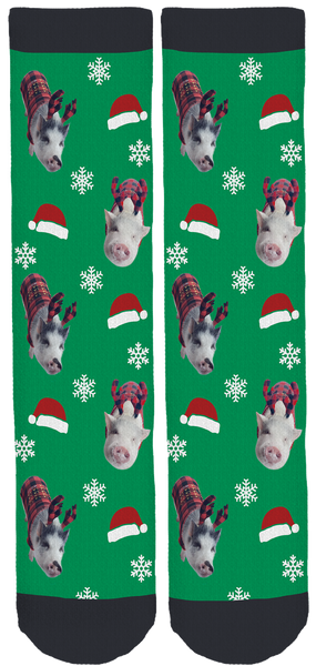 Piggy Gizmo and Bentley Holiday Socks