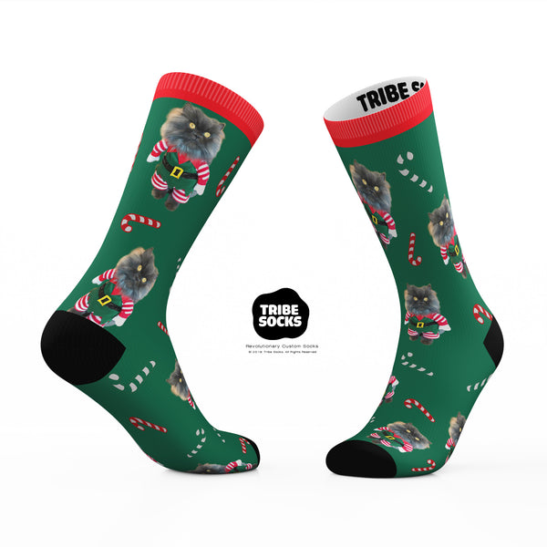 Green Bobbie Holiday Socks