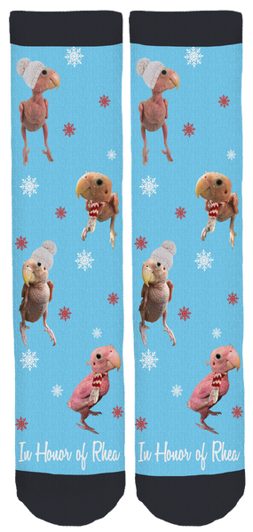 Rhea 'The Naked Birdie' Holiday Crew Socks