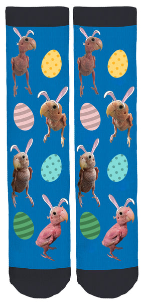 Rhea 'The Naked Birdie' Easter Socks
