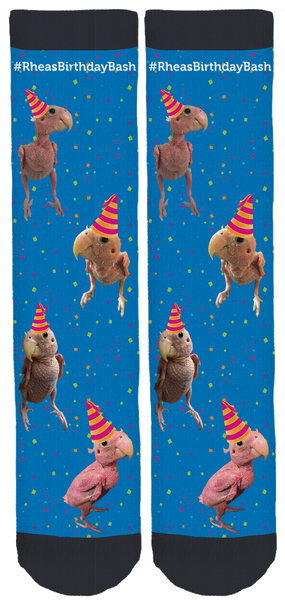 Rhea 'The Naked Birdie' Birthday crew socks